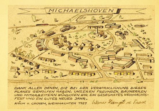 Der Plan von Michaelshoven aus dem Jahr 1957 Bild: Diakonie Michaelshoven