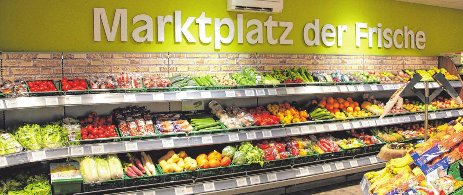 Marktplatz der Frische ist Programm: Täglich wird frisches Obst und Gemüse von regionalen Anbietern geliefert. FOTO: CHRISTINE MARTIN