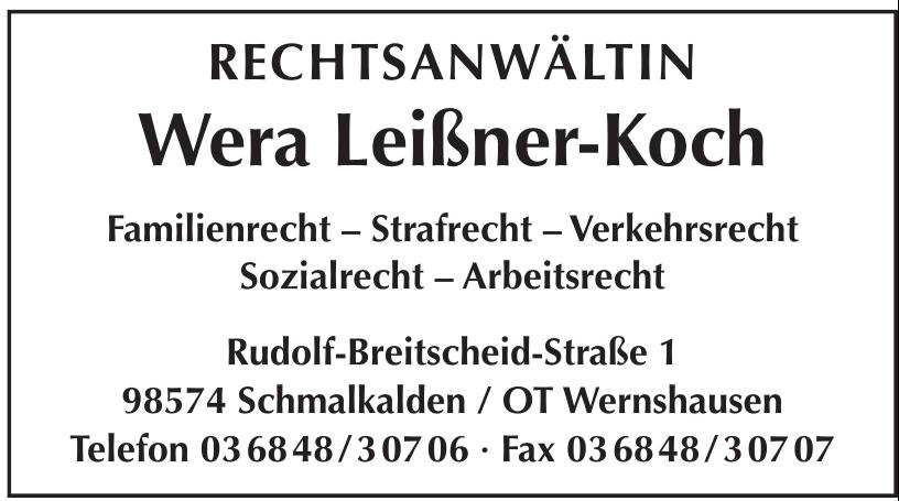 Rechtsanwältin Wera Leißner-Koch