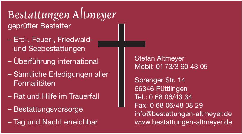 Bestattungen Altmeyer