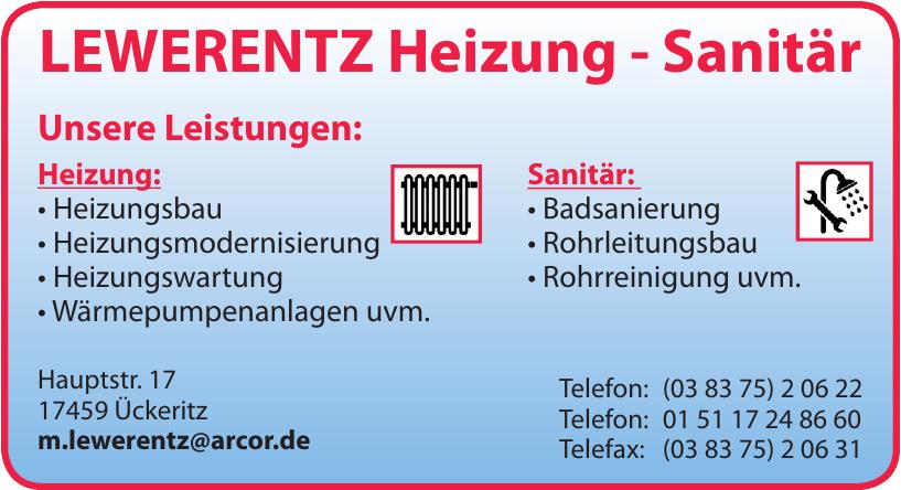 Heizung-Sanitär-Hausmeisterservice Lewerentz