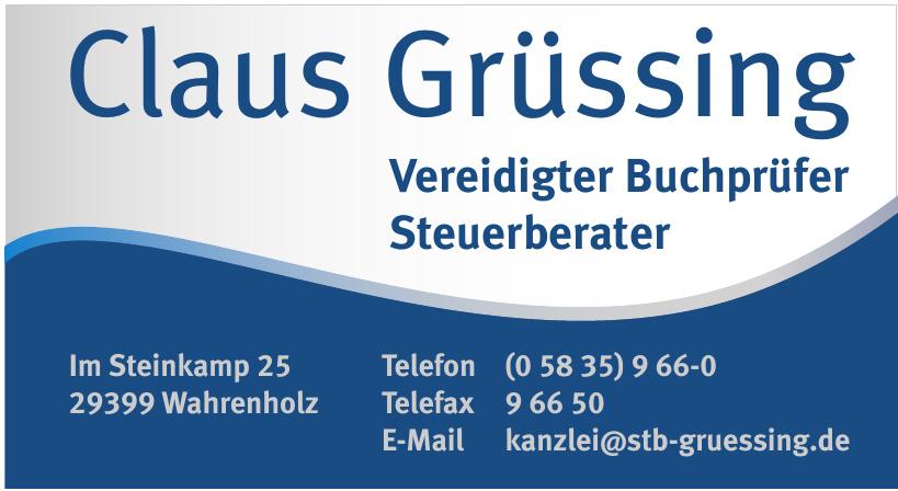 Claus Grüssing Steuerberater