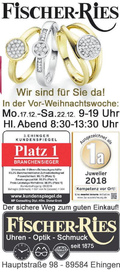 Fischer-Ries Uhren-Optik-Schmuck