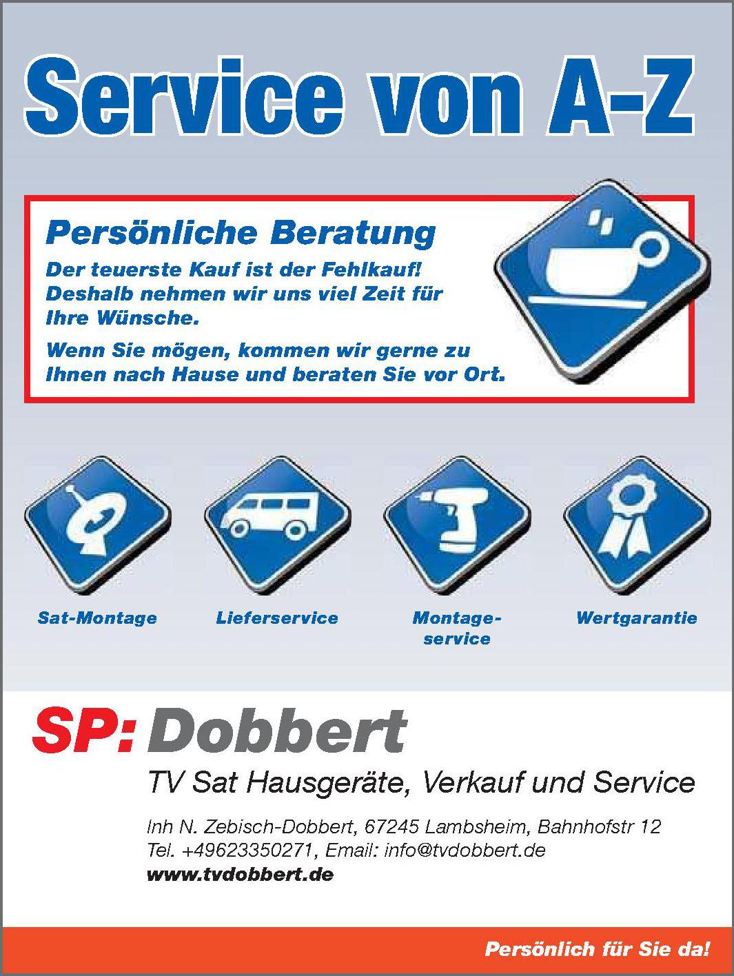 SP: Dobbert TV Sat Hausgeräte, Verkauf und Service