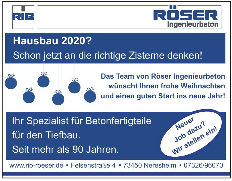 Wilhelm Röser Söhne GmbH & Co. KG Betonwerk Dorfmerkingen