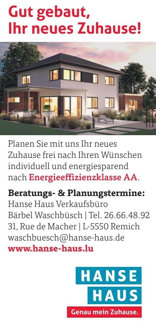 Hanse Haus Verkaufsbüro Bärbel Waschbüsch