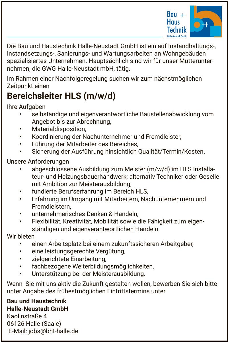 Bau und Haustechnik Halle-Neustadt GmbH