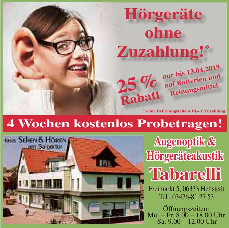 Augenoptik & Hörgeräteakustik Tabarelli