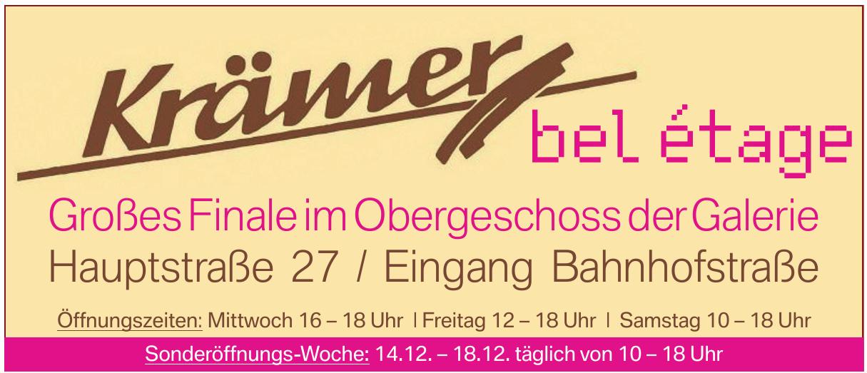 Krämer Galerie für Kunst, Handwerk und Regionales