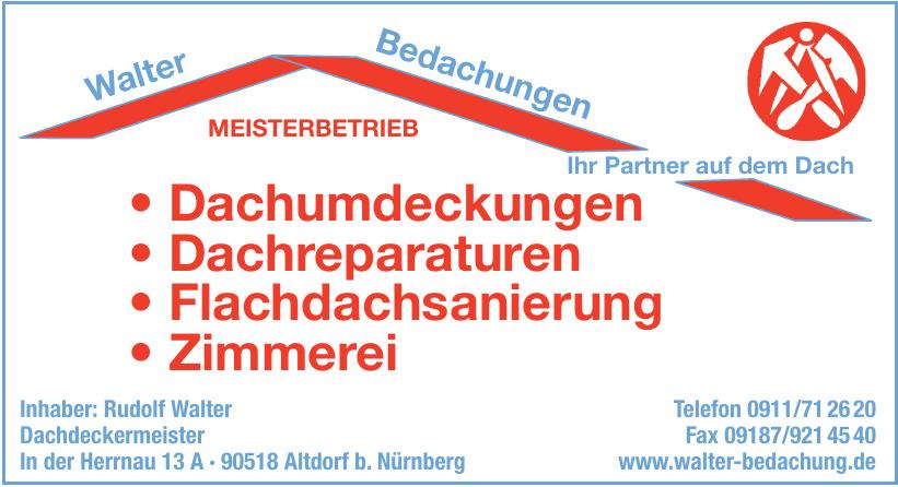 Rudolf Walter Bedachungen