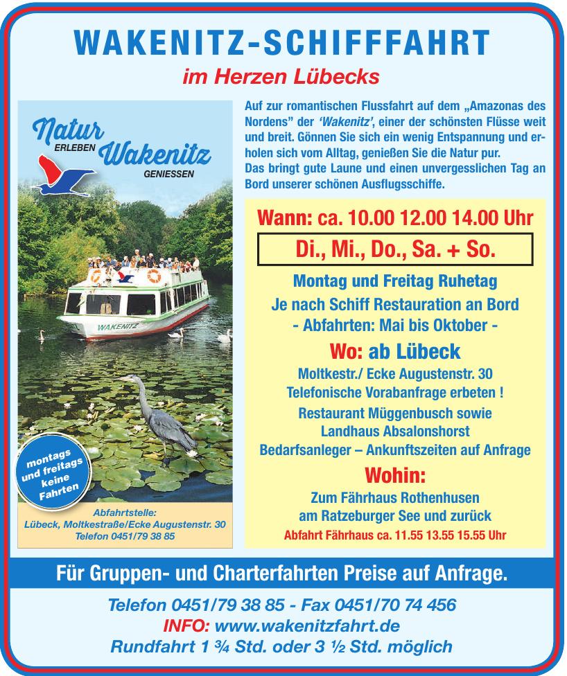 Wakenitz-Schifffahrt