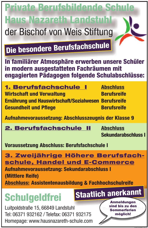 Private Berufsbildende Schule Haus Nazareth Landstuhl