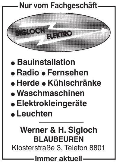 Werner & H. Sigloch Blaubeuren