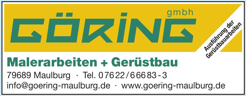 Göring Malerarbeit + Gerüstbau