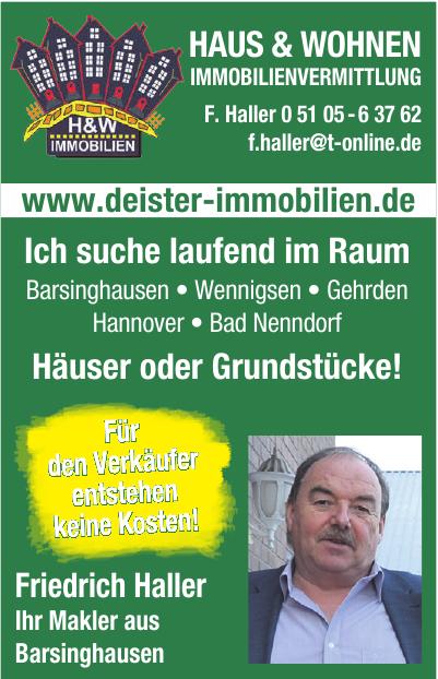 Haus & Wohnen Immobilienvermittlung F. Haller