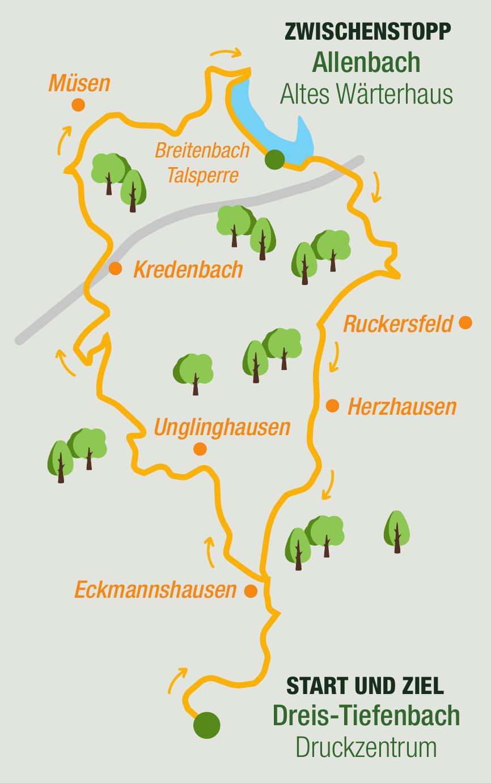 Strecke 37 km