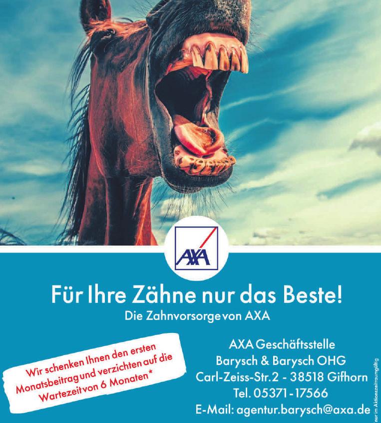 AXA Geschäftsstelle Barysch & Barysch OHG