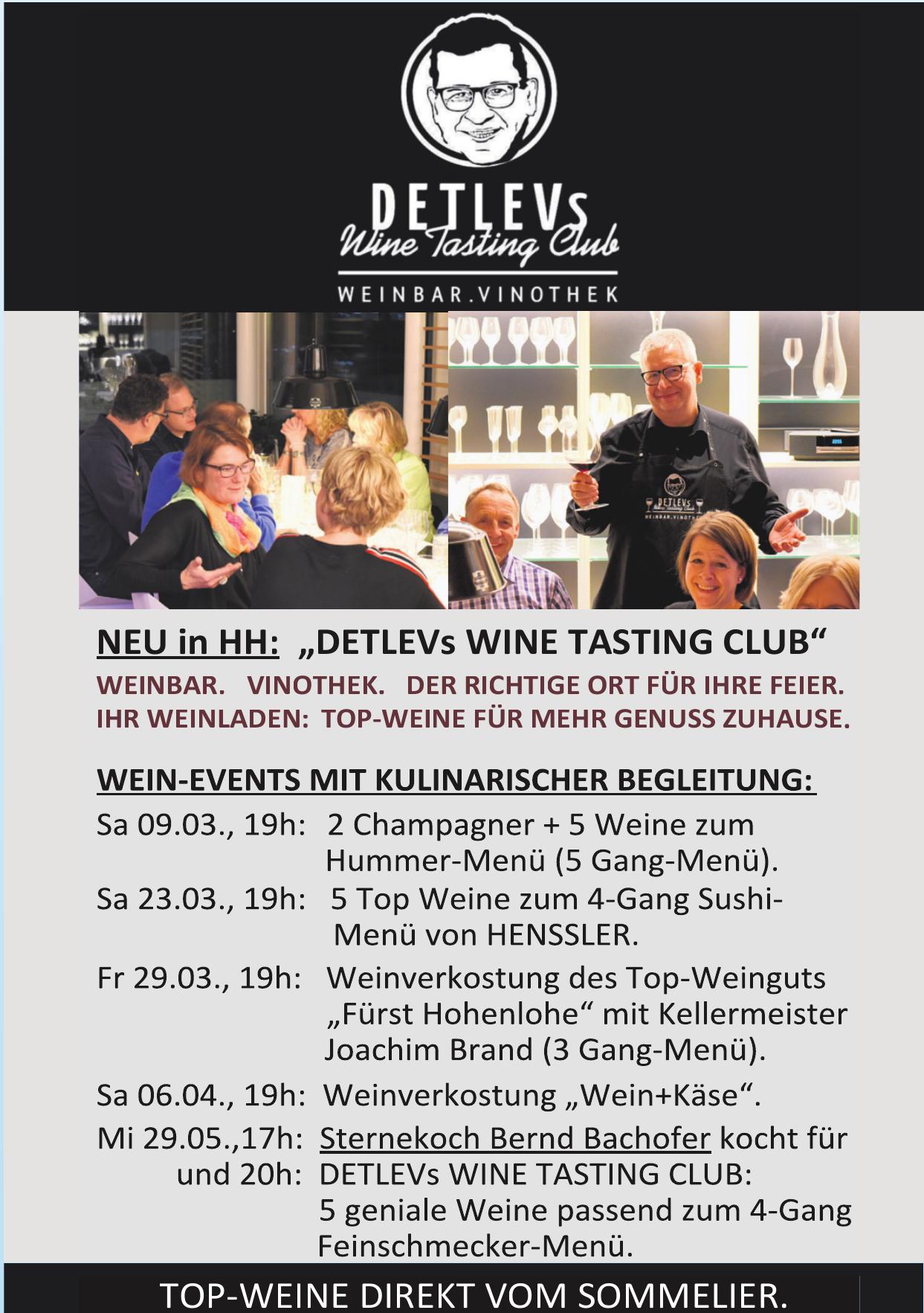 Detlevs Wine Tasting Club