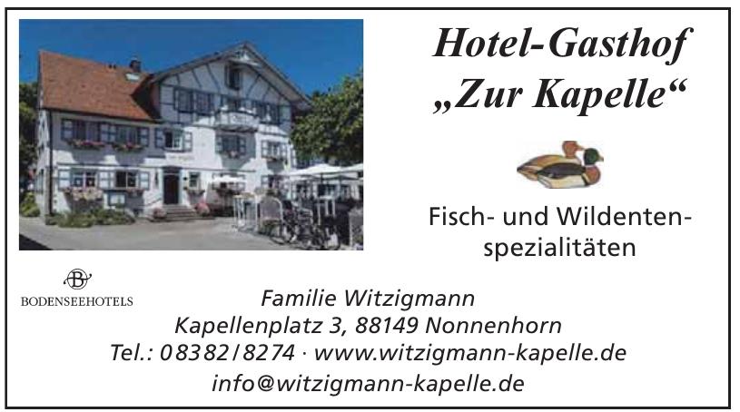 """Hotel-Gasthof """"Zur Kapelle"""""""