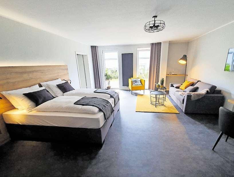 Platz für die ganze Familie: Bis zu fünf Personen können im Familienzimmer übernachten. Fotos (2): Carsten Thomes