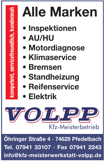 Volpp Kfz-Meisterbetrieb