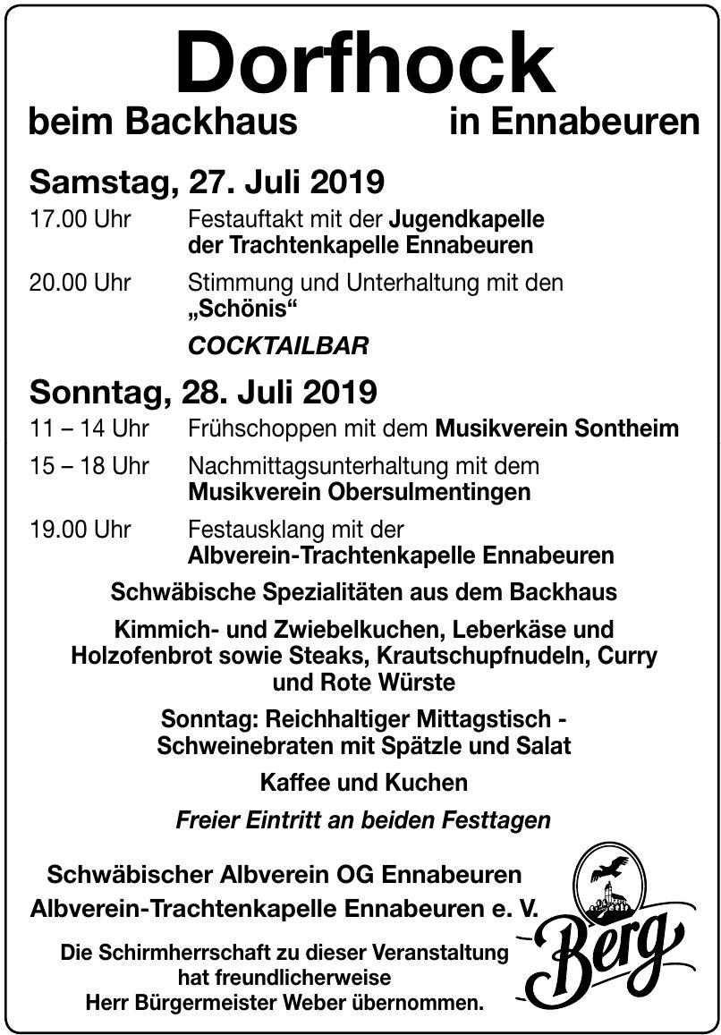 Schwäbischer Albverein OG Ennabeuren Albverein-Trachtenkapelle Ennabeuren e. V.