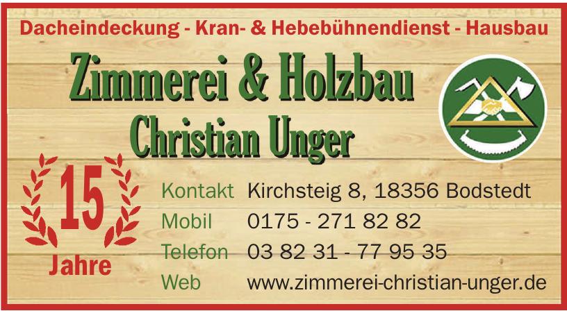 Zimmerei & Holzbau Christian Unger