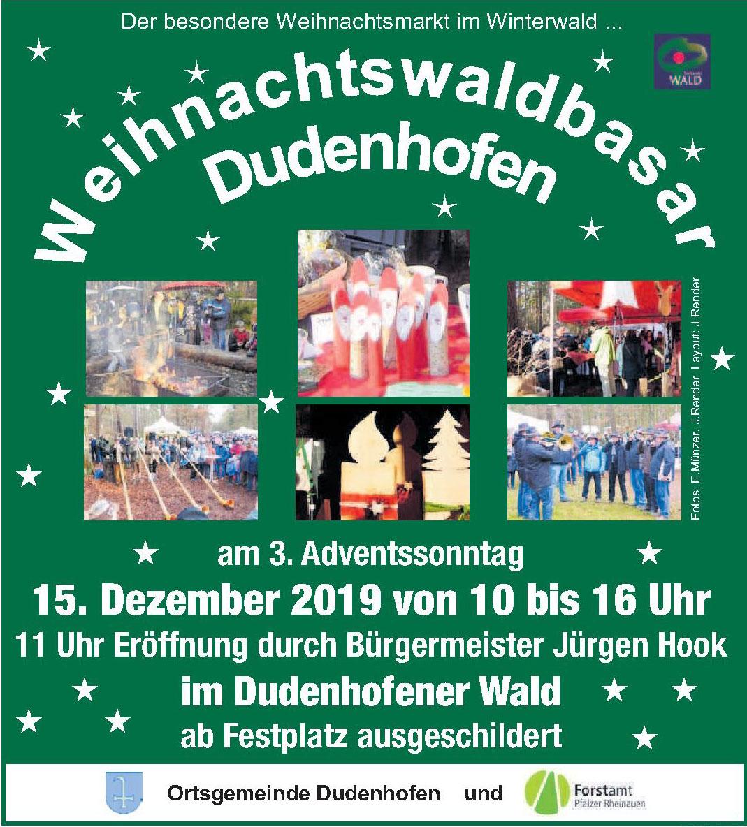 Weihnachtswaldbasar Dudenhofen