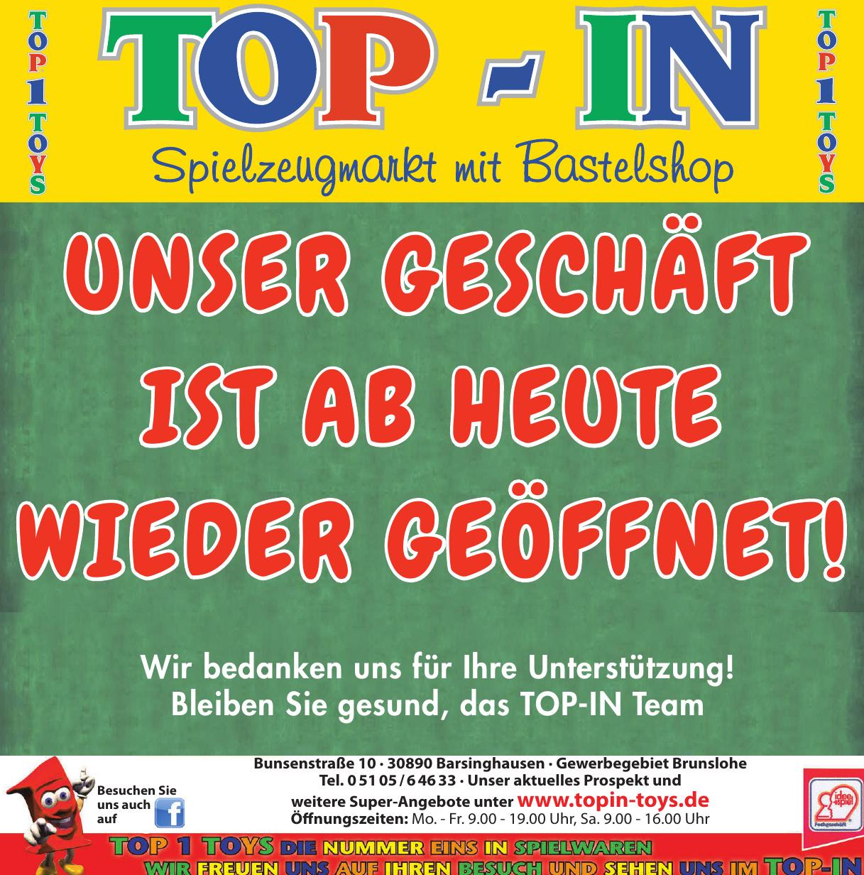 TOP-IN Spielzeugmarkt