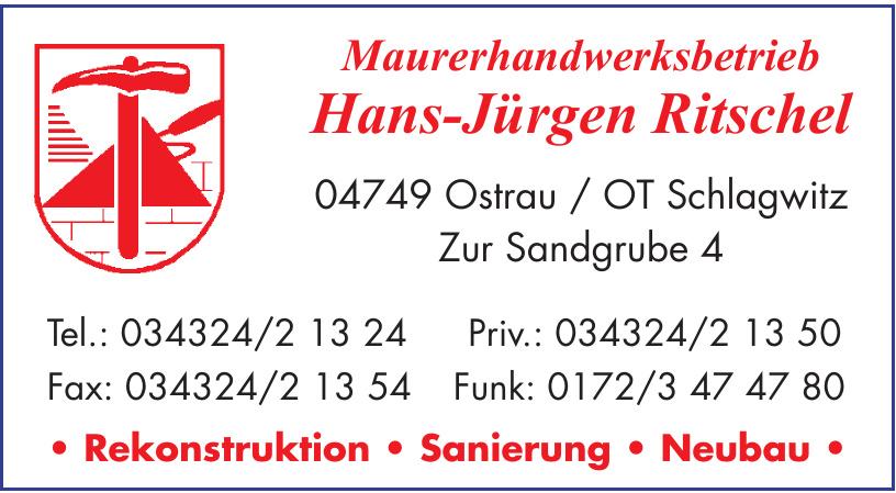 Maurerhandwerksbetrieb Hans-Jürgen Ritschel