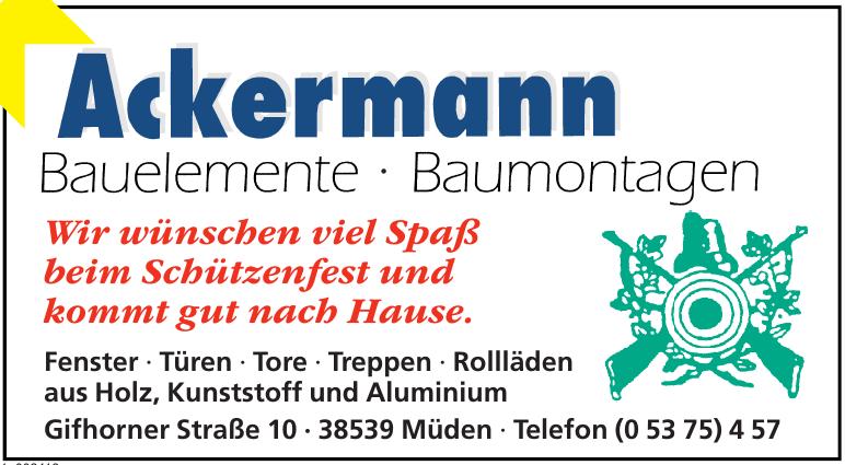 Ackermann Bauelemente - Baumontagen