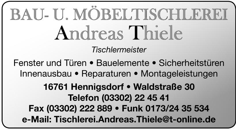 Bau- U. Möbeltischlerei, Andreas Thiele