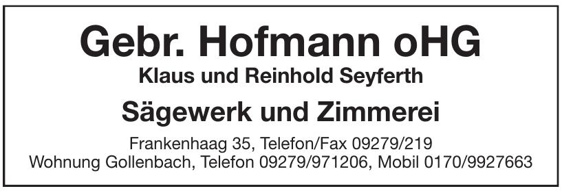 Gebr. Hofmann oHG