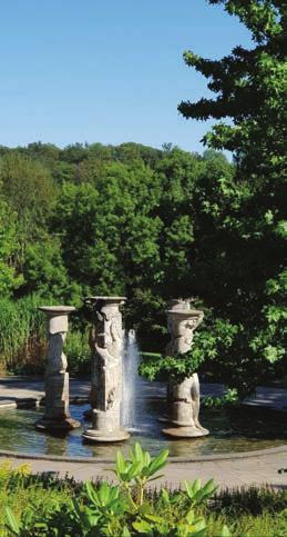Der Säulenbrunnen im Kurpark. Foto: Kiwi Werbekonzeption