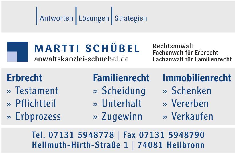 Martti Schübel, Rechtsanwalt