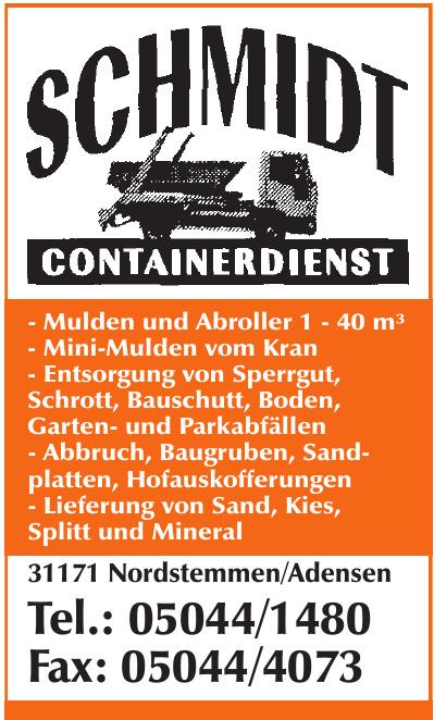 Schmidt Containerdienst