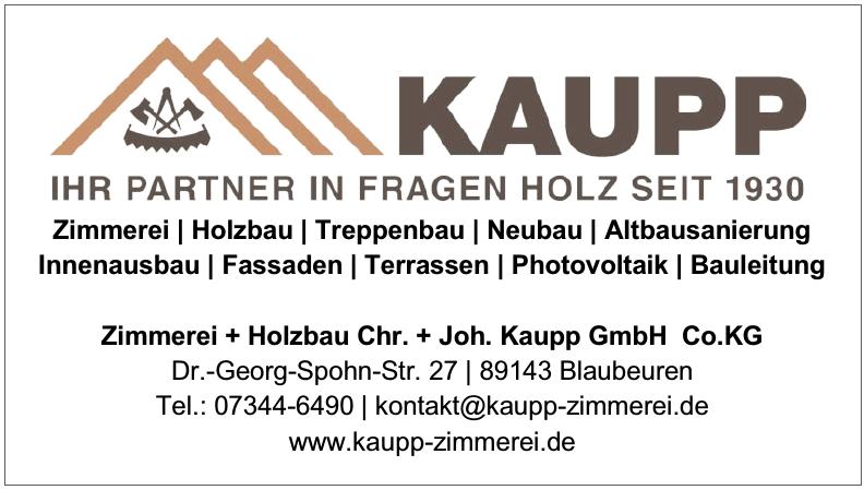 Zimmerei + Holzbau Chr. + Joh. Kaupp GmbH Co.KG