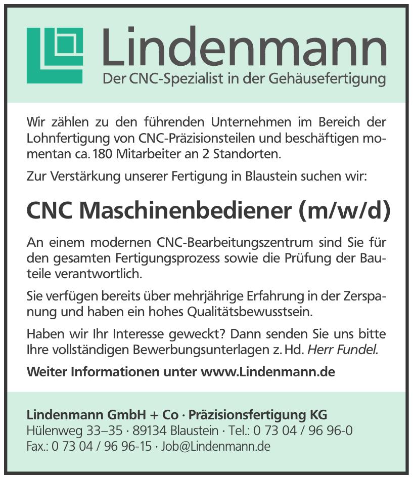 Lindenmann GmbH + Co - Präzisionsfertigung KG