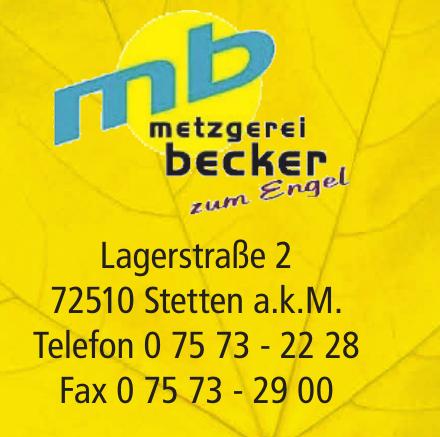 mb Metzgerei Becker zum Engel