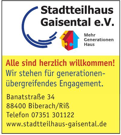 Stadtteilhaus Gaisental e. V.