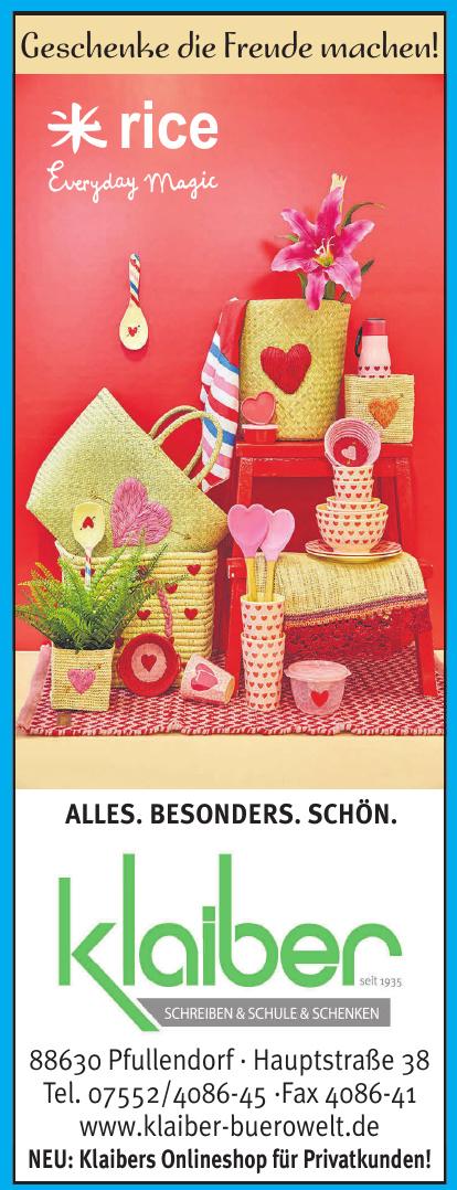 Klaiber Schreiben & Schule & Schenken