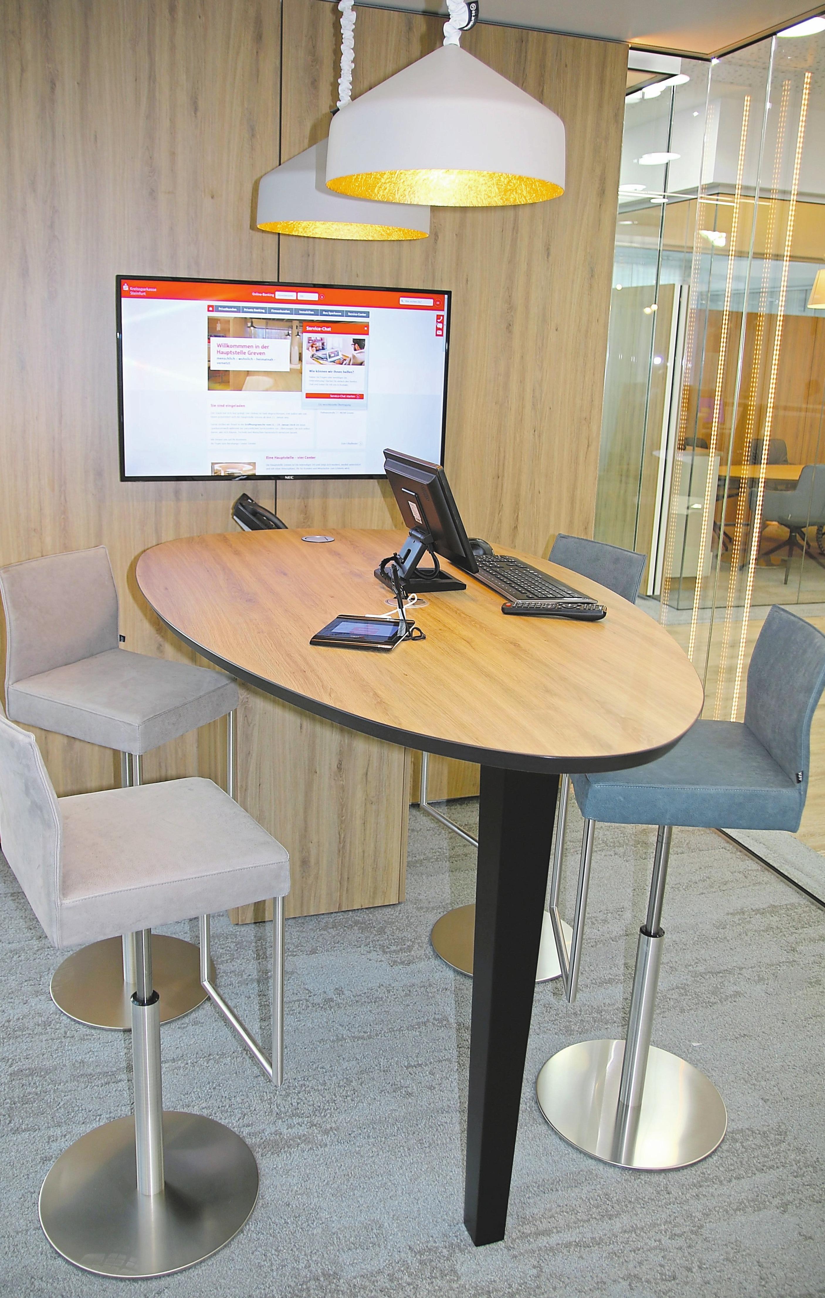 Ein Blick in einen der modernen neuen Beratungsräume.Foto: Kreissparkasse Steinfurt