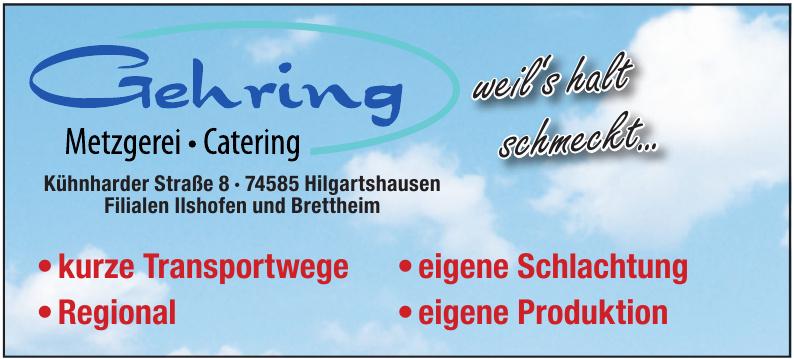 Gehring Metzgerei, Catering