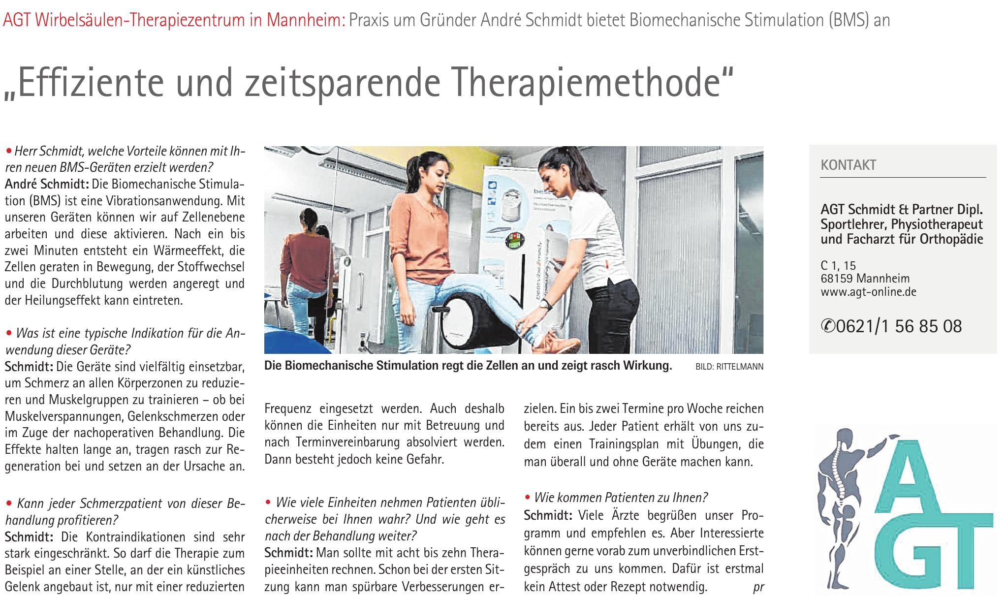 AGT Schmidt & Partner Dipl. Sportlehrer, Physiotherapeut und Facharzt für Orthopädie