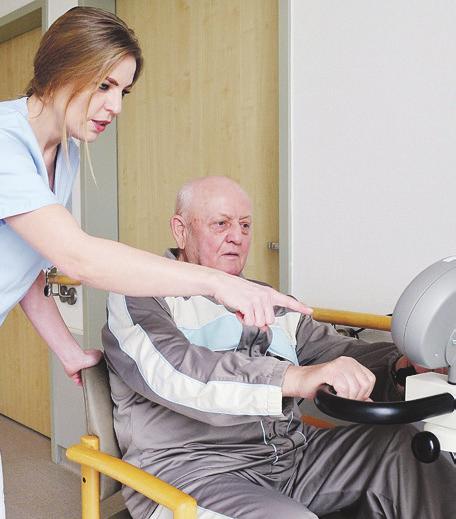 Physiotherapie gehört im AltersTraumaZentrum zum multiprofessionellen Behandlungskonzept. FOTO: GZBIWO
