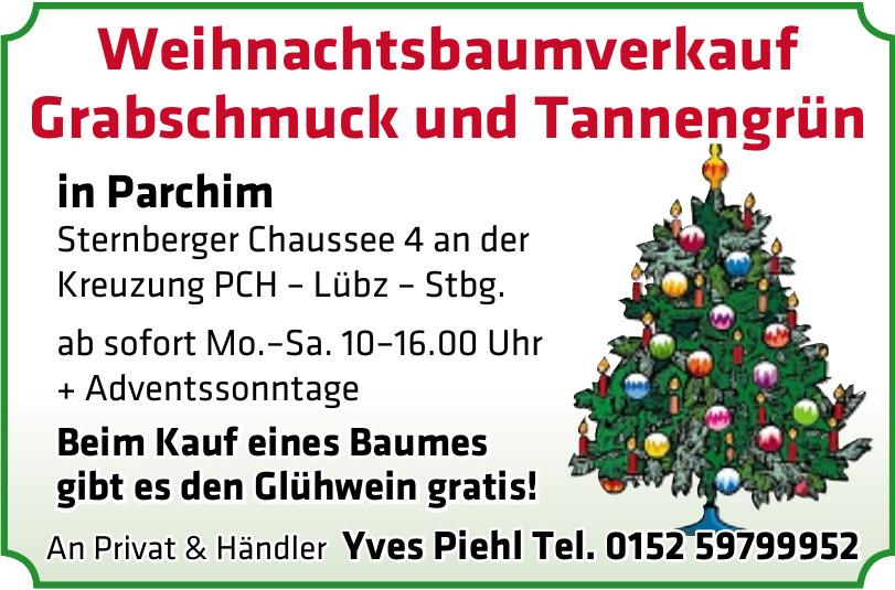 Weihnachtsbaumverkauf Grabschmuck und Tannengrün