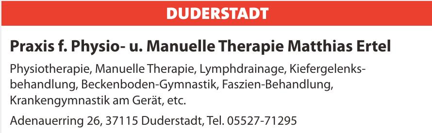 Praxis f. Physio- u. Manuelle Therapie Matthias Ertel