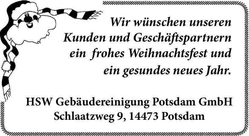 HSW Gebäudereinigung Potsdam GmbH