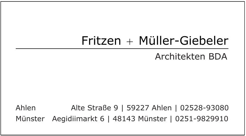 Fritzen + Müller-Giebeler Architekten BDA