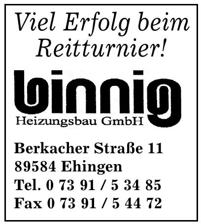 Binnig Heizungsbau GmbH